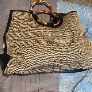Large Talbots straw purse